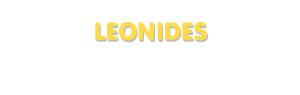 Der Vorname Leonides