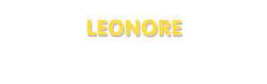 Der Vorname Leonore