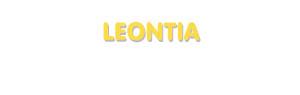 Der Vorname Leontia