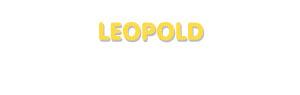Der Vorname Leopold