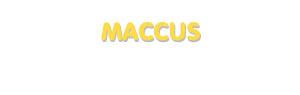 Der Vorname Maccus