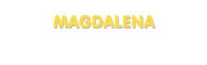 Der Vorname Magdalena