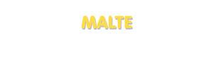 Der Vorname Malte