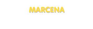 Der Vorname Marcena