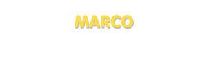 Der Vorname Marco
