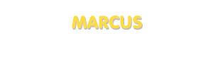 Der Vorname Marcus