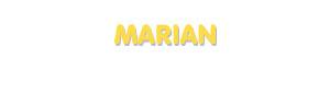 Der Vorname Marian