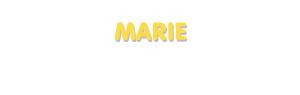 Der Vorname Marie