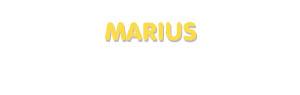 Der Vorname Marius