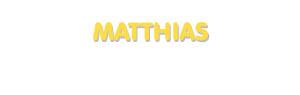 Der Vorname Matthias