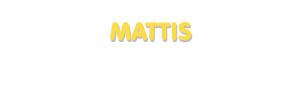 Der Vorname Mattis