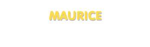Der Vorname Maurice