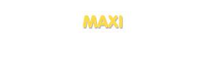 Der Vorname Maxi