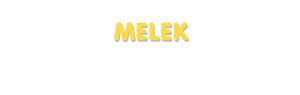 Der Vorname Melek