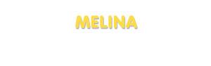 Der Vorname Melina