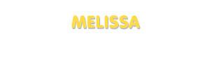 Der Vorname Melissa