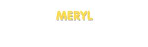 Der Vorname Meryl