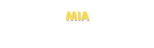 Der Vorname Mia