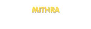 Der Vorname Mithra