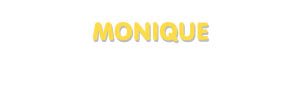 Der Vorname Monique