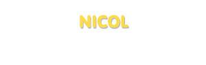 Der Vorname Nicol