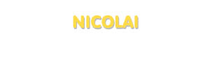 Der Vorname Nicolai