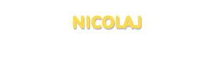 Der Vorname Nicolaj