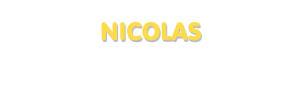Der Vorname Nicolas