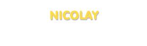 Der Vorname Nicolay