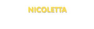 Der Vorname Nicoletta