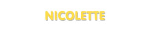 Der Vorname Nicolette