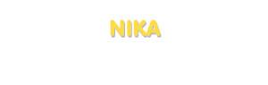 Der Vorname Nika