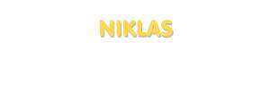 Der Vorname Niklas