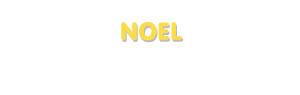 Der Vorname Noel