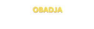 Der Vorname Obadja