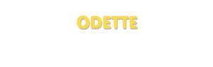 Der Vorname Odette