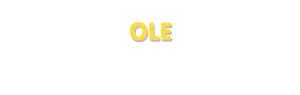 Der Vorname Ole