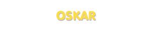 Der Vorname Oskar