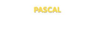 Der Vorname Pascal