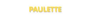Der Vorname Paulette