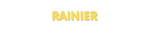 Der Vorname Rainier