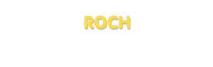 Der Vorname Roch