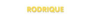 Der Vorname Rodrique