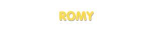 Der Vorname Romy