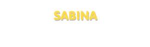 Der Vorname Sabina