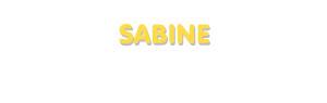 Der Vorname Sabine
