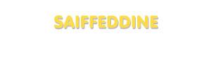 Der Vorname Saiffeddine