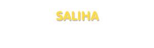 Der Vorname Saliha