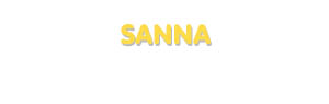 Der Vorname Sanna