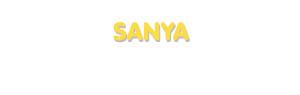Der Vorname Sanya